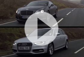 Bentley Conti GT Speed vs Audi S4  – Chris on cars