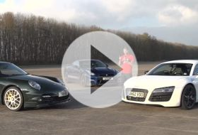 R8 V10 vs 997 Turbo vs GT-R – Chris on cars