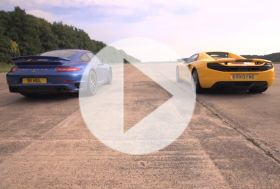 Porsche 911 Turbo S vs McLaren 12C – Chris on cars