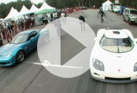 Corvette Z06 vs Koenigsegg CCXR – drag race