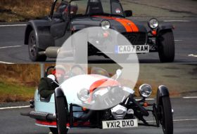 Morgan 3Wheeler a Caterham Seven – Chris on cars
